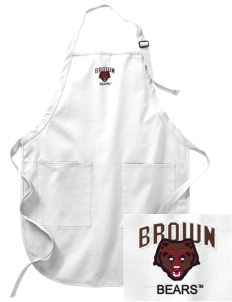 Brown University Bears Embroidered Full-Length Apron with Pockets