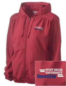 Stony Brook University Seawolves Embroidered Women's Hooded Essential Jacket