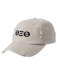 Theta Xi Theta Embroidered Distressed Cap