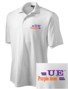 University of Evansville Purple Aces Embroidered Men's Jersey Polo