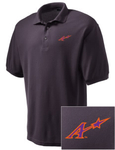 University of Evansville Purple Aces Embroidered Men's Silk Touch Polo