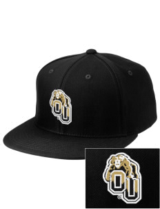 Oakland University Golden Grizzlies Embroidered Diamond Series Fitted Cap