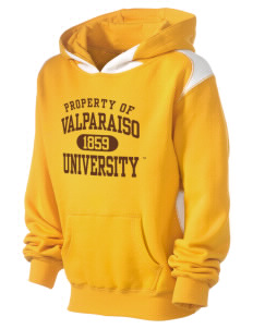 Valparaiso University Crusaders Kid's Pullover Hooded Sweatshirt with Contrast Color