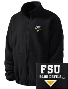 SUNY Fredonia Blue Devils Embroidered Men's Fleece Jacket