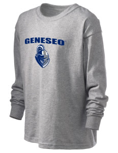 SUNY Geneseo Knights Kid's 6.1 oz Long Sleeve Ultra Cotton T-Shirt