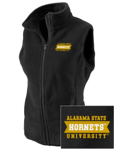 Alabama State University Hornets Embroidered Women's Fleece Vest