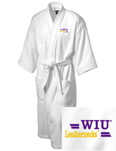 Western Illinois University Leathernecks Embroidered Terry Velour Robe