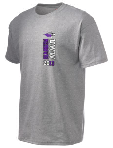 University of Wisconsin-Whitewater Warhawks Hanes Men's 6 oz Tagless T-shirt