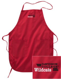 Davidson College Wildcats Embroidered Full Length Apron