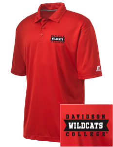 Davidson College Wildcats Embroidered Russell Coaches Core Polo Shirt