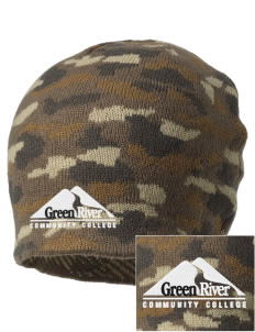 Green River Community College Gators Embroidered Camo Beanie