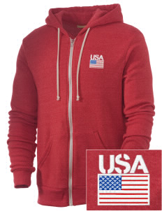 Air National Guard Embroidered Alternative Men's Rocky Zip Hooded Sweatshirt