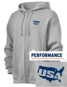 Air National Guard  Embroidered Russell Dri-Power Fleece Full Zip Hooded Sweatshirt