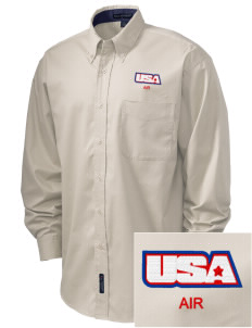 Connecticut Air National Guard Embroidered Men's Easy-Care Shirt