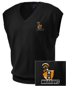 Indiana Tech Warriors Embroidered Men's Fine-Gauge V-Neck Sweater Vest