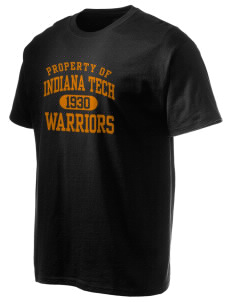 Indiana Tech Warriors Hanes Men's 6 oz Tagless T-shirt