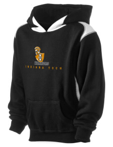 Indiana Tech Warriors Kid's Pullover Hooded Sweatshirt with Contrast Color