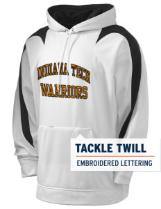 Indiana Tech Warriors Holloway Men's Sports Fleece Hooded Sweatshirt with Tackle Twill