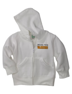 Indiana Tech Warriors Baby Full Zip Hoodie