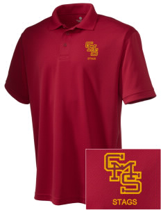 Claremont-Mudd-Scripps Men's Athletics Stags Embroidered Holloway Men's Performance Polo