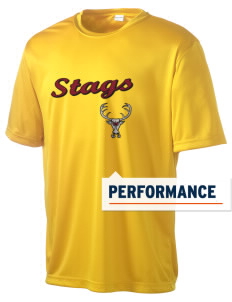 Claremont-Mudd-Scripps Men's Athletics Stags Men's Competitor Performance T-Shirt