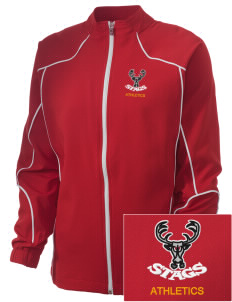 Claremont-Mudd-Scripps Men's Athletics Stags Embroidered Russell Women's Full Zip Jacket