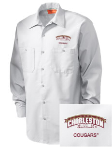 College of Charleston Cougars Embroidered Men's Industrial Work Shirt - Regular