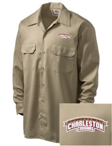 College of Charleston Cougars Embroidered Dickies Men's Long-Sleeve Workshirt
