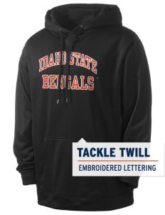 Idaho State University Bengals Men's Sport-Wick Fleece Hooded Pullover with Tackle Twill