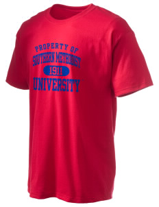 Southern Methodist University Mustangs Hanes Men's 6 oz Tagless T-shirt