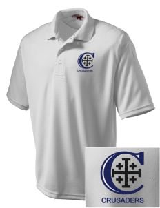 Christendom College Crusaders Embroidered Men's Dri Mesh Polo