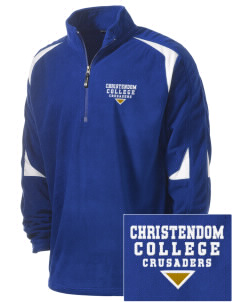 Christendom College Crusaders Holloway Embroidered Men's Torch Fleece 1/4-Zip Warmup Jacket