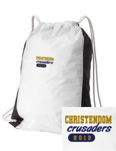 Christendom College Crusaders Embroidered Holloway Home and Away Cinch Bag