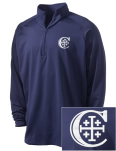 Christendom College Crusaders Embroidered Men's Stretched Half Zip Pullover