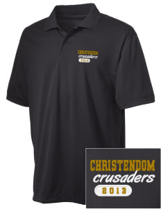 Christendom College Crusaders Embroidered Men's Micro Pique Polo