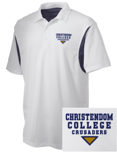 Christendom College Crusaders Embroidered Men's Back Blocked Micro Pique Polo