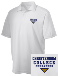 Christendom College Crusaders Embroidered Men's Double Mesh Polo