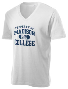 Madison Area Technical College WolfPack Alternative Men's 3.7 oz Basic V-Neck T-Shirt