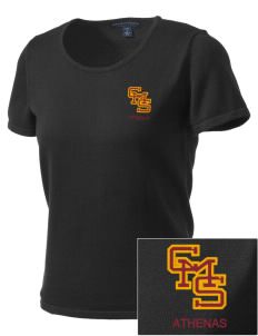 Claremont-Mudd-Scripps Women's Athletics Athenas Embroidered Women's Fine-Gauge Scoop Neck Sweater