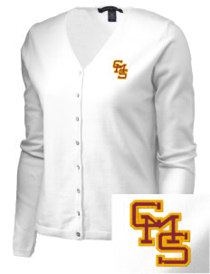 Claremont-Mudd-Scripps Women's Athletics Athenas Embroidered Women's Stretch Cardigan Sweater