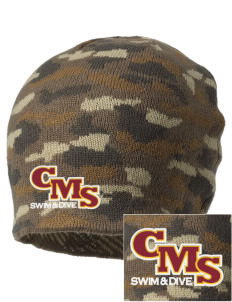 Claremont-Mudd-Scripps Women's Athletics Athenas Embroidered Camo Beanie