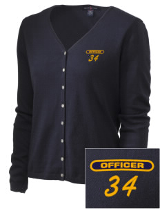 New Athens Police Department Embroidered Women's Stretch Cardigan Sweater