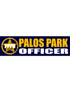 "Palos Park Police Department Bumper Sticker 11"" x 3"""