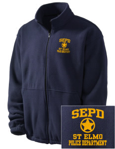 St Elmo Police Department Embroidered Men's Fleece Jacket