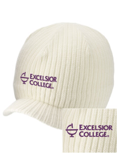 Excelsior College Start to Finish Embroidered Knit Beanie with Visor