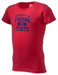 Fresno State Bulldogs  Girl's Fine Jersey Longer Length T-Shirt