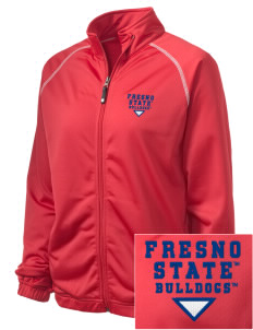 Fresno State Bulldogs Embroidered Holloway Women's Attitude Warmup Jacket