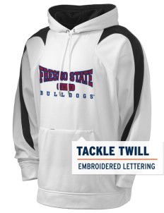 Fresno State Bulldogs Holloway Men's Sports Fleece Hooded Sweatshirt with Tackle Twill