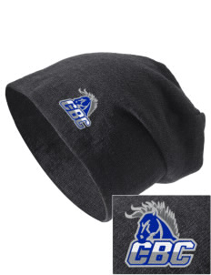 Central Baptist College Mustangs Embroidered Slouch Beanie