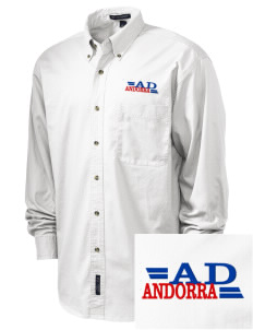 Andorra Embroidered Tall Men's Twill Shirt